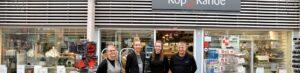 Medarbejdere forna Kop & Kande butik i Dianalund Centret