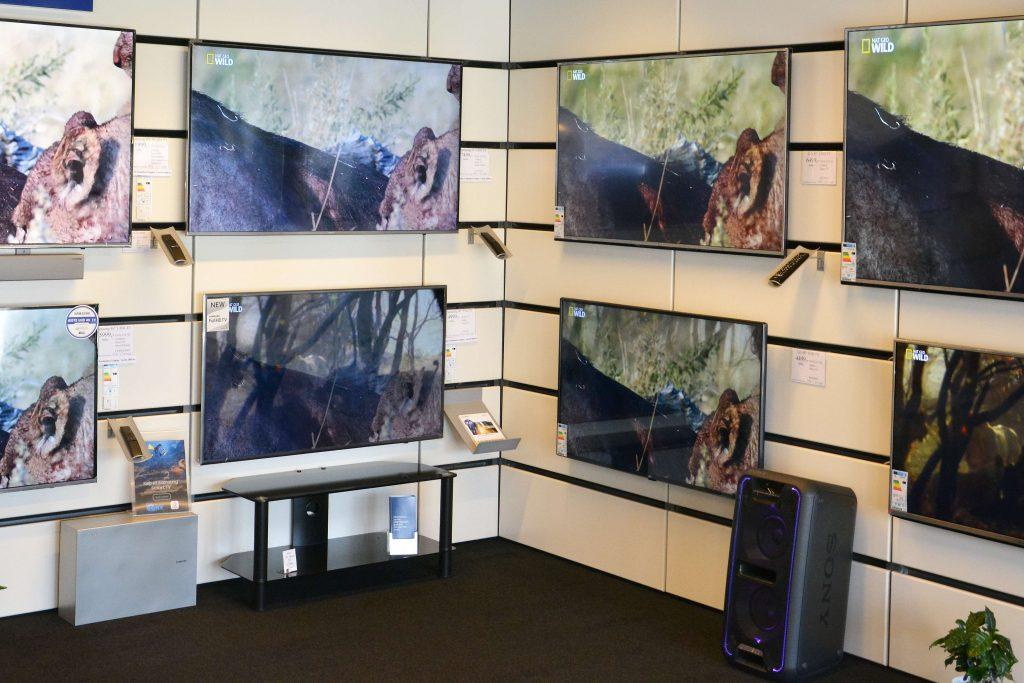 Kom ind i butikken og oplev forskellen på de forskellige fjernsynsteknologier