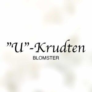 Logo til U-krudten blomster i Dianalund Centret