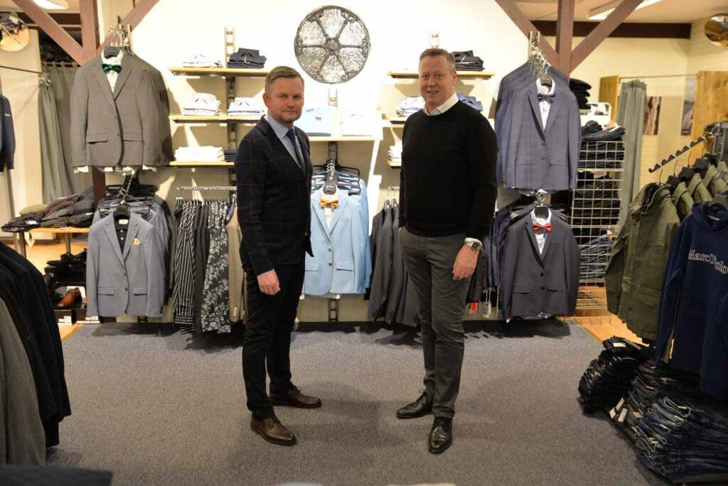 Thomas og Niels i deres butik