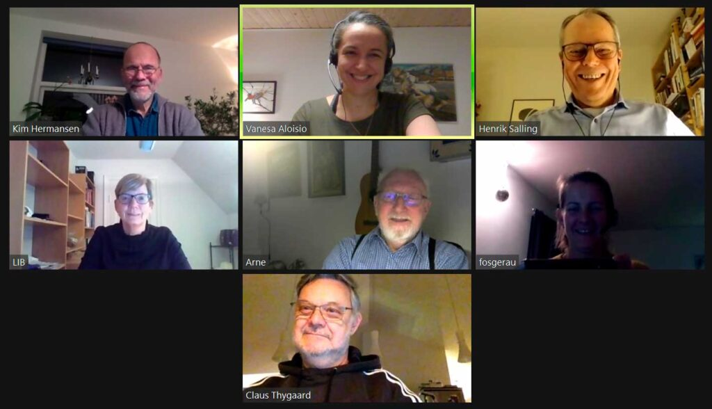 DURs bestyrelse mødes virtuelt under Corona pandemien