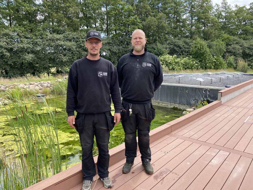 Jesper Fussing Hjortgaard og Lars Albertsen fra Teknik - Miljø og Drift i Sorø Kommune